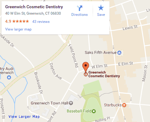 Google map for Greenwich Dentist, Greenwich Cosmetic Dentistry