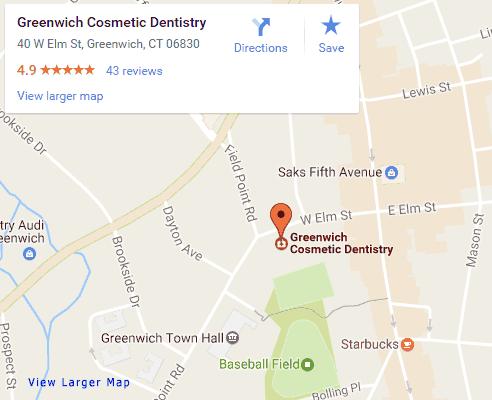 Google map for Greenwich Dentist, Greenwich Cosmetic Dentistry